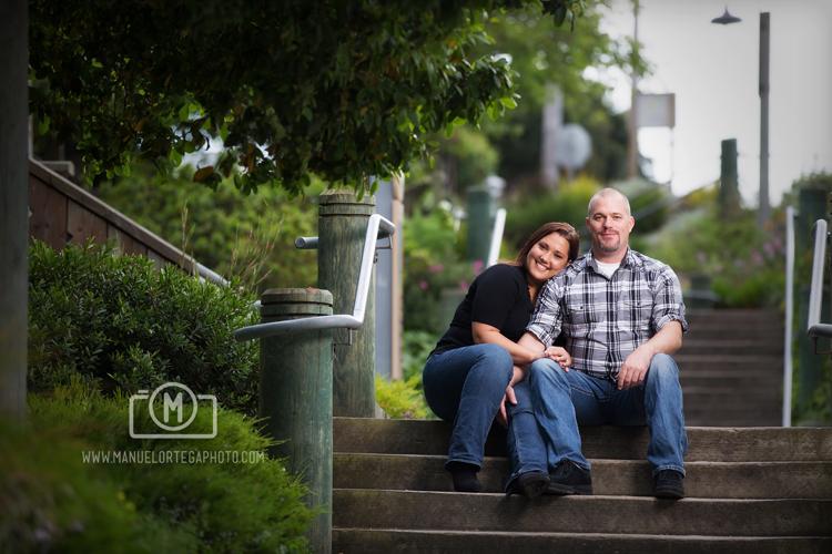 Engaged Couple Sitting