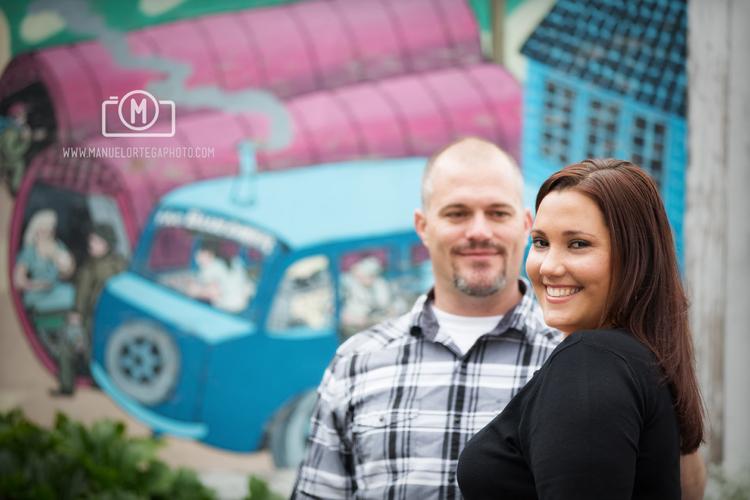 Colorful Engagement Portrait